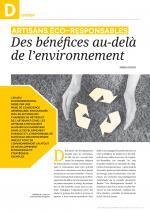 Des bénéfices au-delà de l'environnement