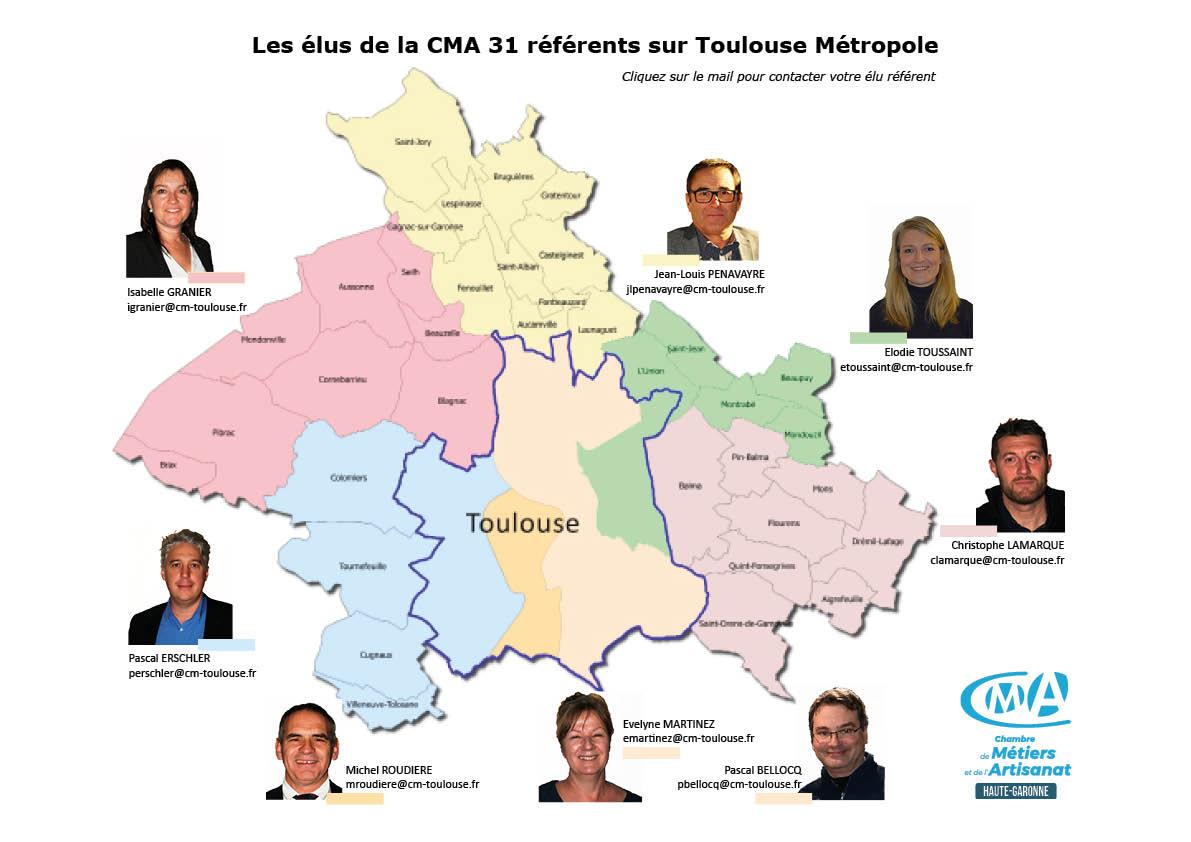 Carte élus CMA  31 / Toulouse Métropole