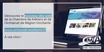 Site internet de la CMAR Occitanie